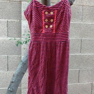 [Xhilaration] Orange & Black Striped Mini Dress